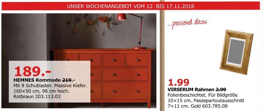 Ikea Dusseldorf Hemnes Kommode Mit 8 Sc Fur 189 00 14