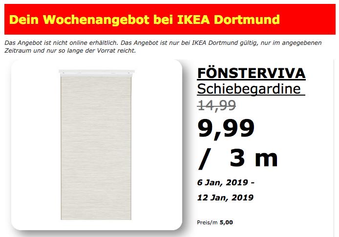 Ikea Dortmund Fönsterviva Schiebegardi Für 999 33