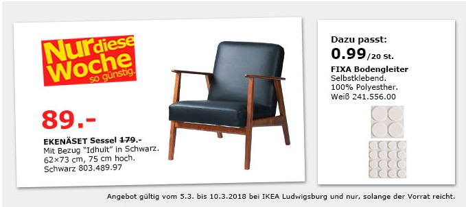 ikea eken set sessel f r 89 00 50. Black Bedroom Furniture Sets. Home Design Ideas