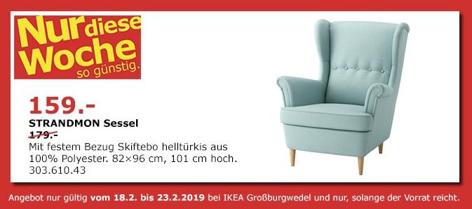 ikea gro burgwedel strandmon sessel he f r 159 00. Black Bedroom Furniture Sets. Home Design Ideas