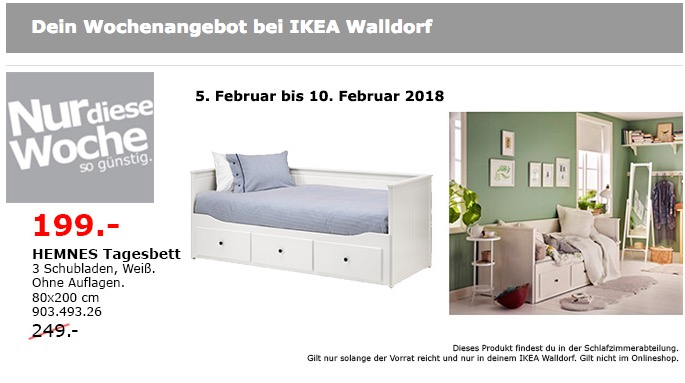 ikea hemnes tagesbett f r 199 00 20. Black Bedroom Furniture Sets. Home Design Ideas