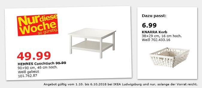 Ikea Ludwigsburg Hemnes Couchtisch Fur 49 99 50