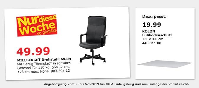 Ikea Ludwigsburg Millberget Drehstuhl S Für 4999 29
