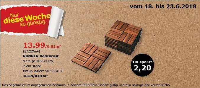 IKEA RUNNEN Bodenrost 9 St Fur 1399EUR 14