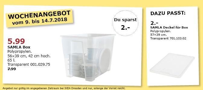 Ikea Samla Box 65 L Fur 5 99 25