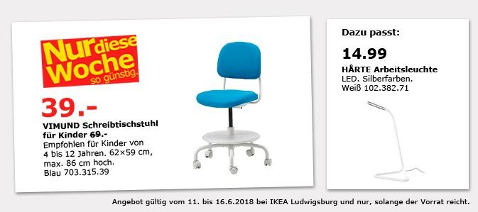 ikea vimund schreibtischstuhl f r kinder f r 39 00 43. Black Bedroom Furniture Sets. Home Design Ideas