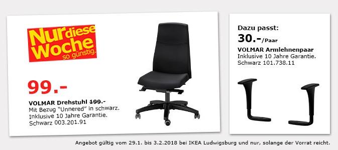 IKEA VOLMAR Drehstuhl Fur 9900EUR 50