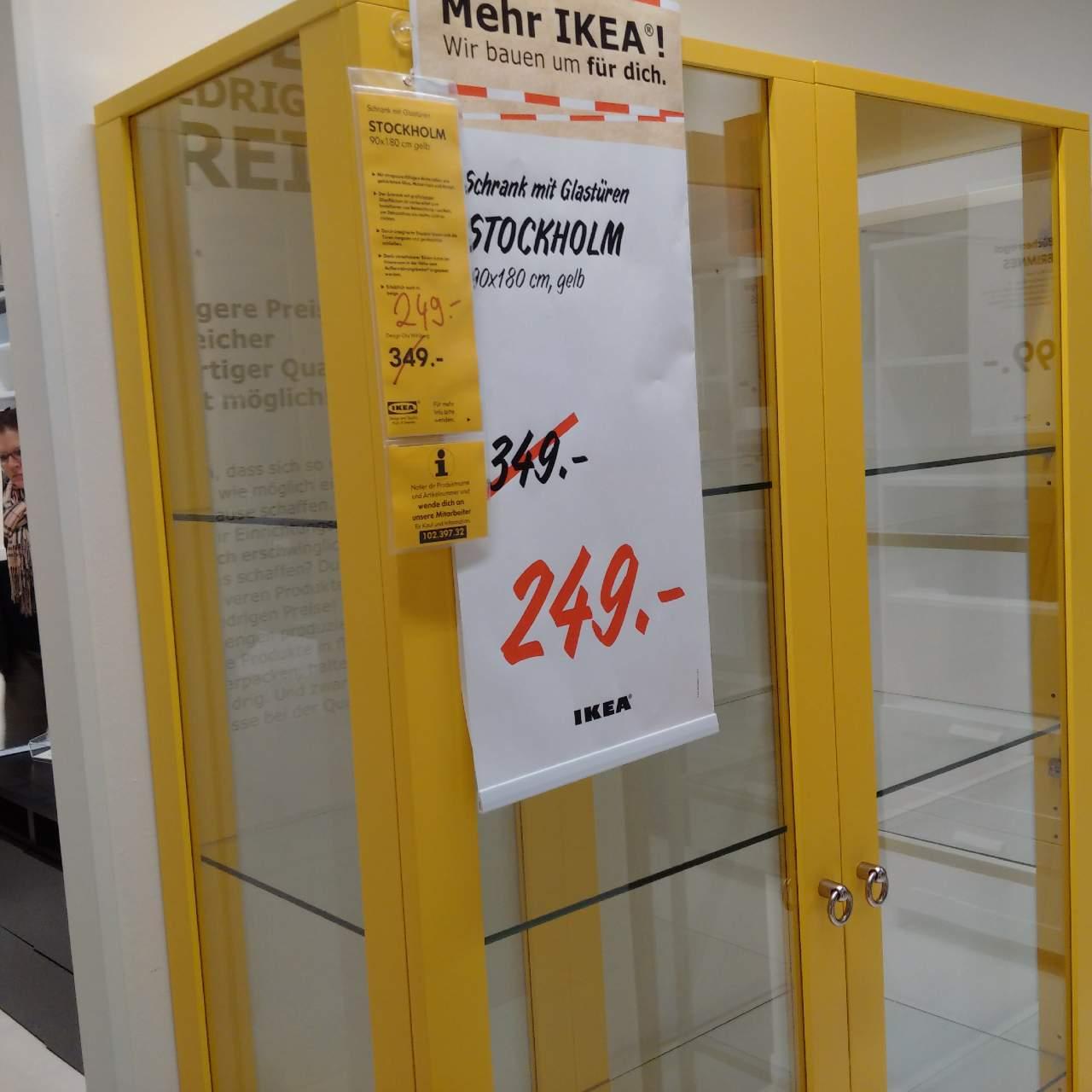 IKEA STOCKHOLM Schrank mit Glastüren, 90x... für 249,00€ (-29%)