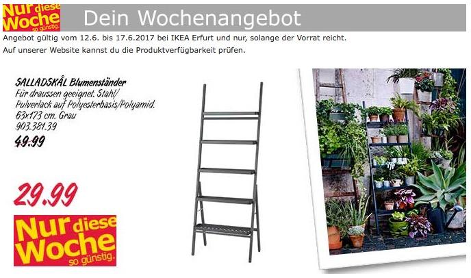 Ikea Salladskal Blumenständer 63x173 Cm Für 2999 40