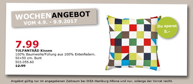 Ikea Kissen 50x50 ikea tulpanträd kissen 50x50 cm bunt für 7 99 38