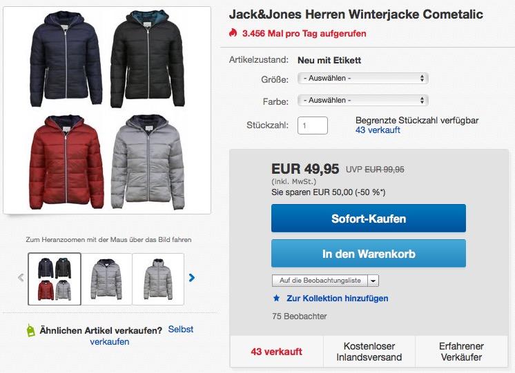 72a4e5f31376d8 Winterjacke Jack amp jones F Herren Cometalic WEH2YD9I