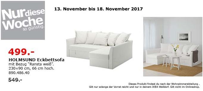 Eckbettsofa  IKEA HOLMSUND Eckbettsofa für 499,00€ (-9%)