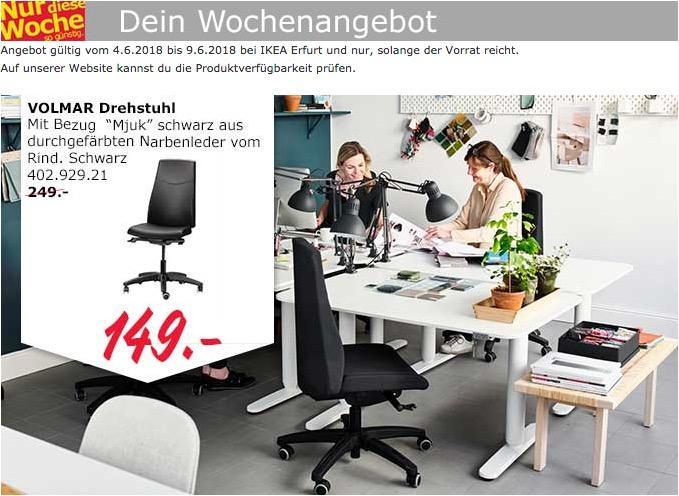 IKEA VOLMAR Drehstuhl Fur 14900EUR 40