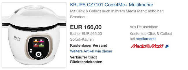 Krups Cz7101 Multikocher Fur 166 00 12