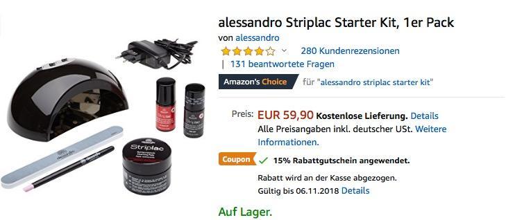 alessandro Striplac Starter Kit für Nagellack-Maniküre