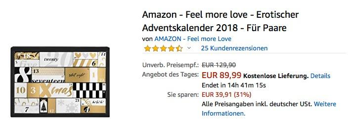Amazon - Feel more love - Erotischer Adventskalender 2018