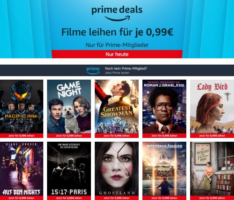 Amazon Freitagskino-Aktion für Prime-Mitglieder: 10 Leih-Filme für je nur 99 Cent, z.B. Game Night