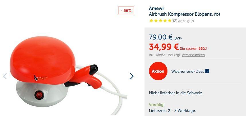 AmewiAirbrush Kompressor Blopens - jetzt 32% billiger