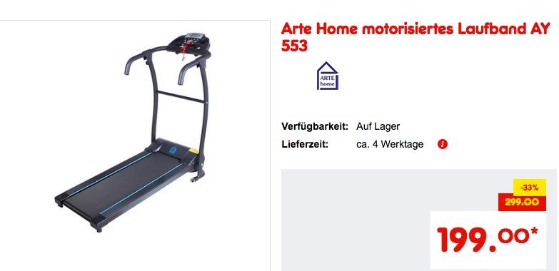 Arte Home motorisiertes Laufband AY 553