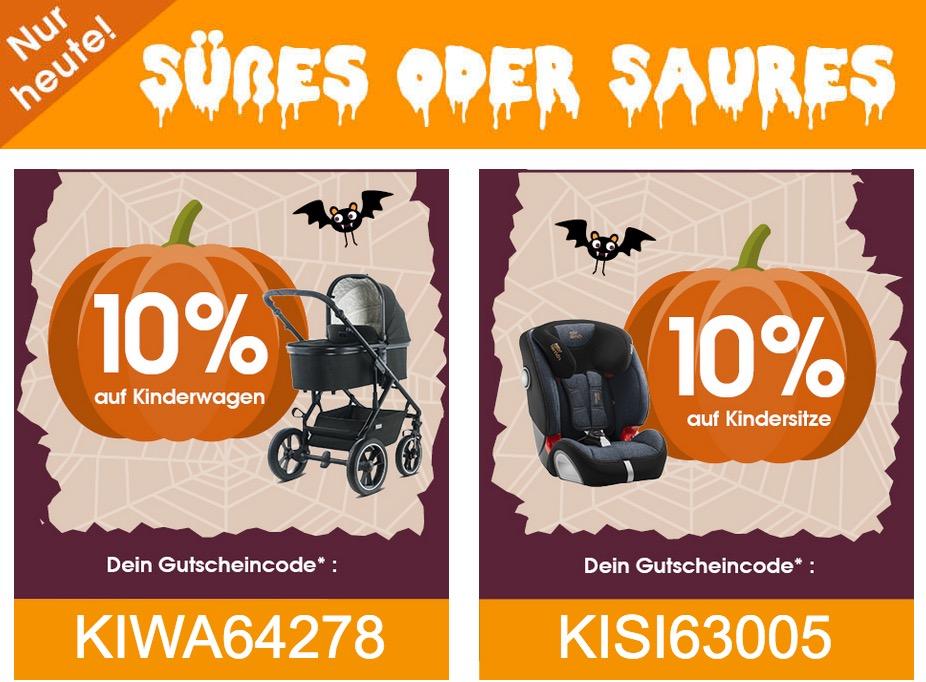 Babymarkt.de - 10% Rabatt auf Kinderwagen und Kindersitze: z.B. Kiddy Kindersitz Cruiserfix 3 Mystic Black