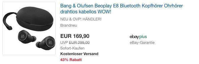 Bang & Olufsen Beoplay E8 Bluetooth Kopfhörer