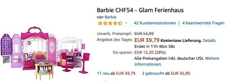 Barbie CHF54 - Glam Ferienhaus mit Zubehör