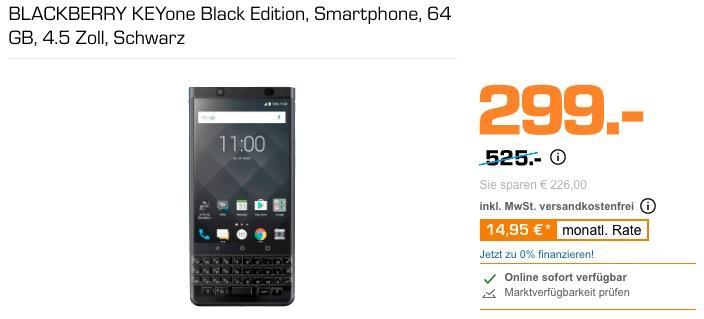 BLACKBERRY KEYone Black Edition Smartphone 64 GB - jetzt 14% billiger