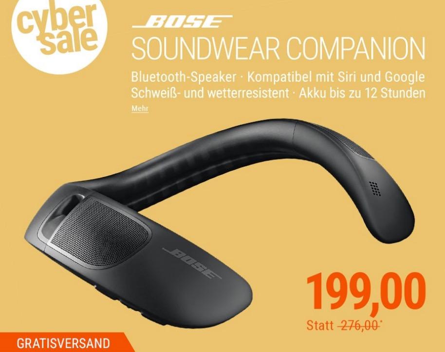 BOSE SoundWear Companion Speaker Bluetoot-Lautsprecher für den Nacken