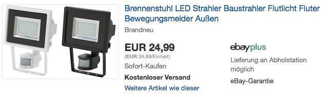 Brennenstuhl SMD-LED-Leuchte / LED Strahler mit Bewegungsmelder - jetzt 13% billiger