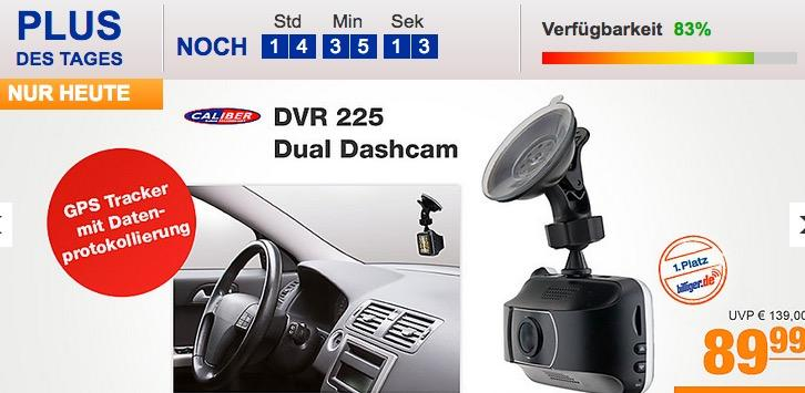 Caliber DVR 225 Dual Dashcam mit GPS