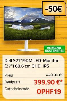 "Dell S2719DM LED-Monitor (27"") 68.6 cm (QHD, 2560x1440, IPS)"