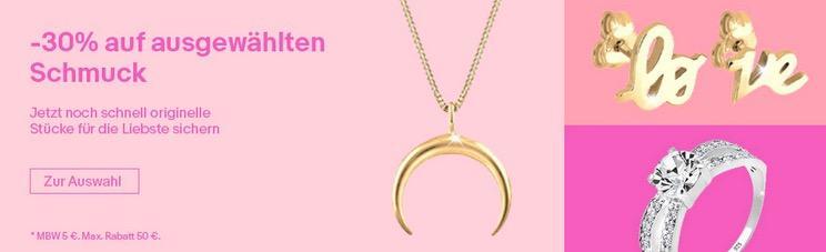 Ebay - 30% Rabatt auf Julie-Grace-Schmuck: z.B. Elli 45 cm Halskette mit Kreuz, 925 Silber
