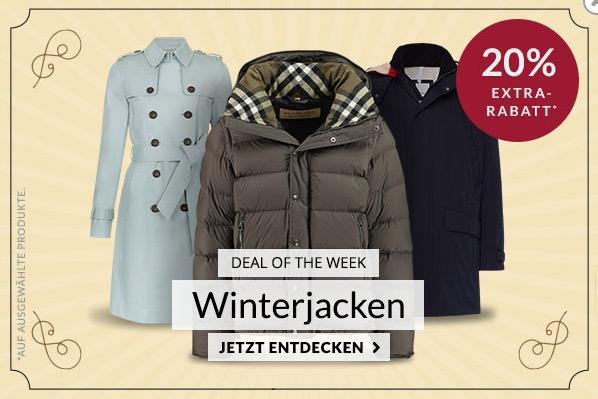 """Engelhorn - 20% Extra-Rabatt auf ausgewählte Winterjacken: z.B.  Gant Herren Daunenjacke """"The Airlight"""""""