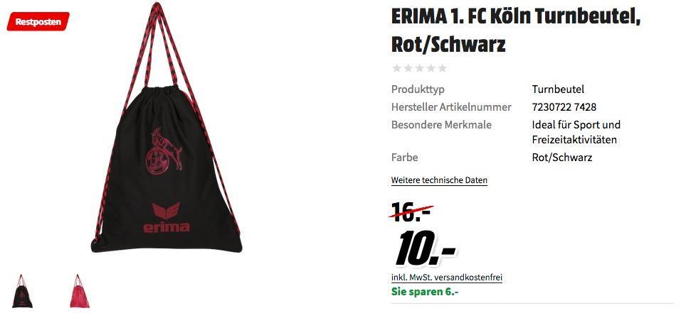 ERIMA 1. FC Köln Turnbeutel
