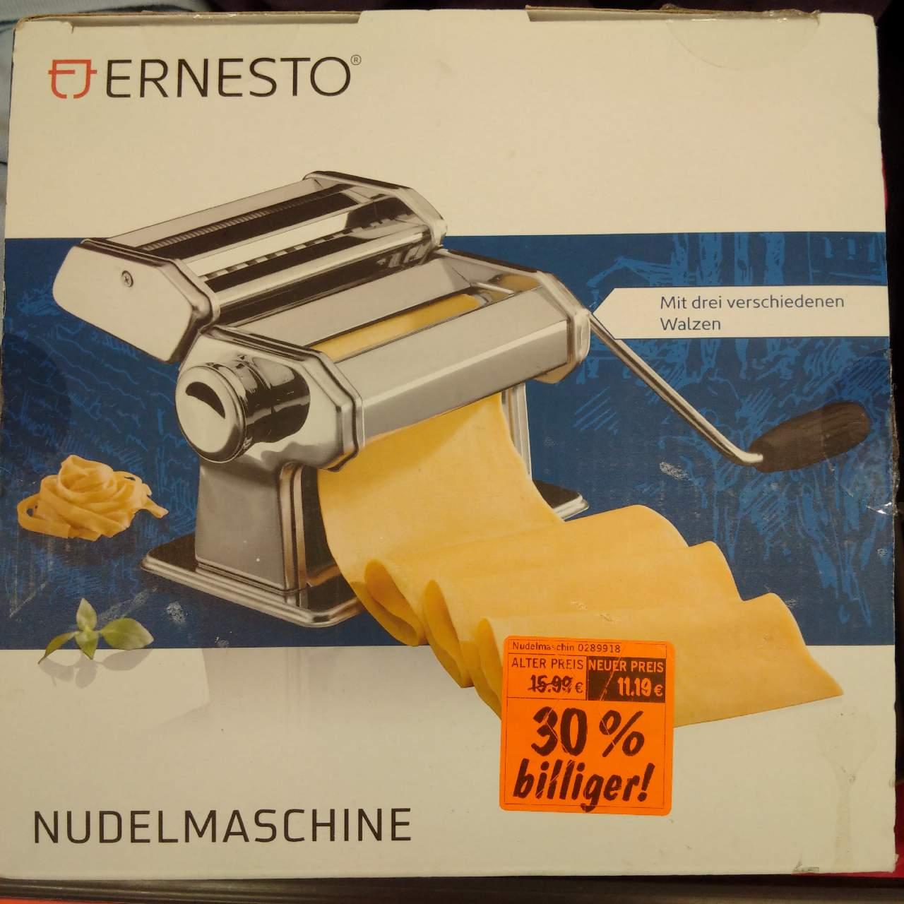 ERNESTO Nudelmaschine mit 3 verschiedenen Walzen