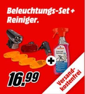FISCHER 85345 Fahrrad Aufrüst-Set inkl. NIGRIN Evo Tec Fahrrad-Reiniger