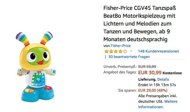 "Fisher Price Tanzroboter ""Tanzspaß BeatBo"""