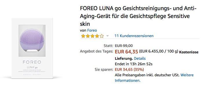 FOREO LUNA go Gesichtsreinigungs- und Anti-Aging-Gerät