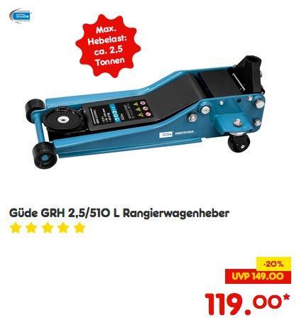 Güde GRH 2,5/510 L Rangierwagenheber