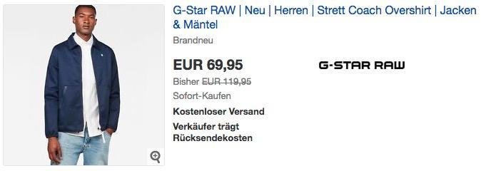 G-Star RAW Strett Coach Overshirt in Sartho Blue
