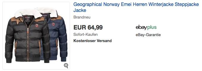 Geographical Norway Emei Herren Winterjacke