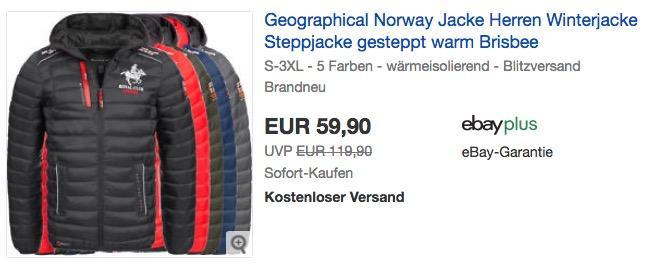 """Geographical Norway gesteppte Herren Winterjacke """"Brisbee"""""""