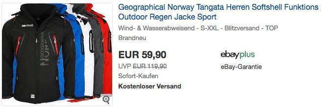 Geographical Norway Tangata Herren Outdoor Softshelljacke