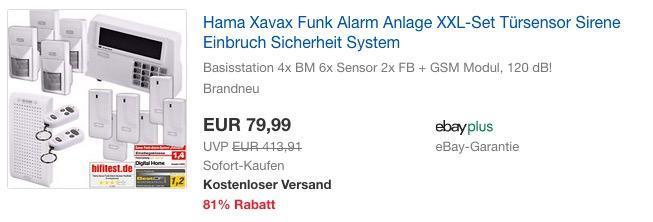 "Hama Xavax Funk XXL-Alarm System ""FeelSafe"" inkl. GSM APP Modul"