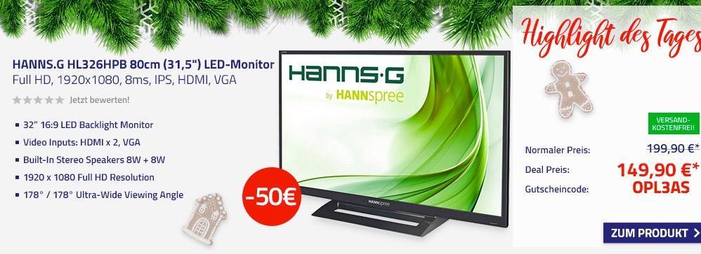 """HANNS.G HL326HPB 80cm (31,5"""") LED-Monitor"""