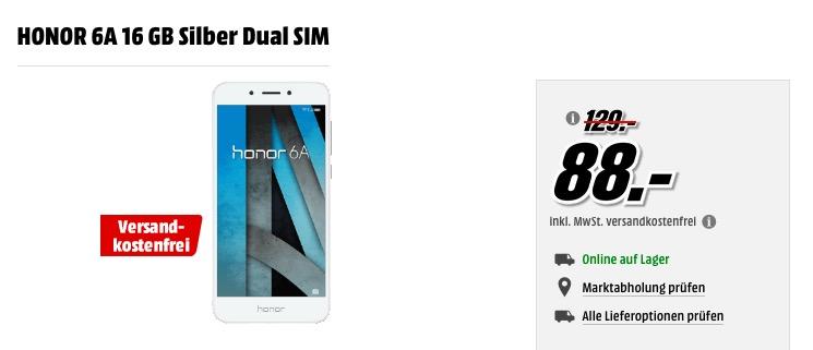 HONOR 6A 16 GB Silber Dual SIM