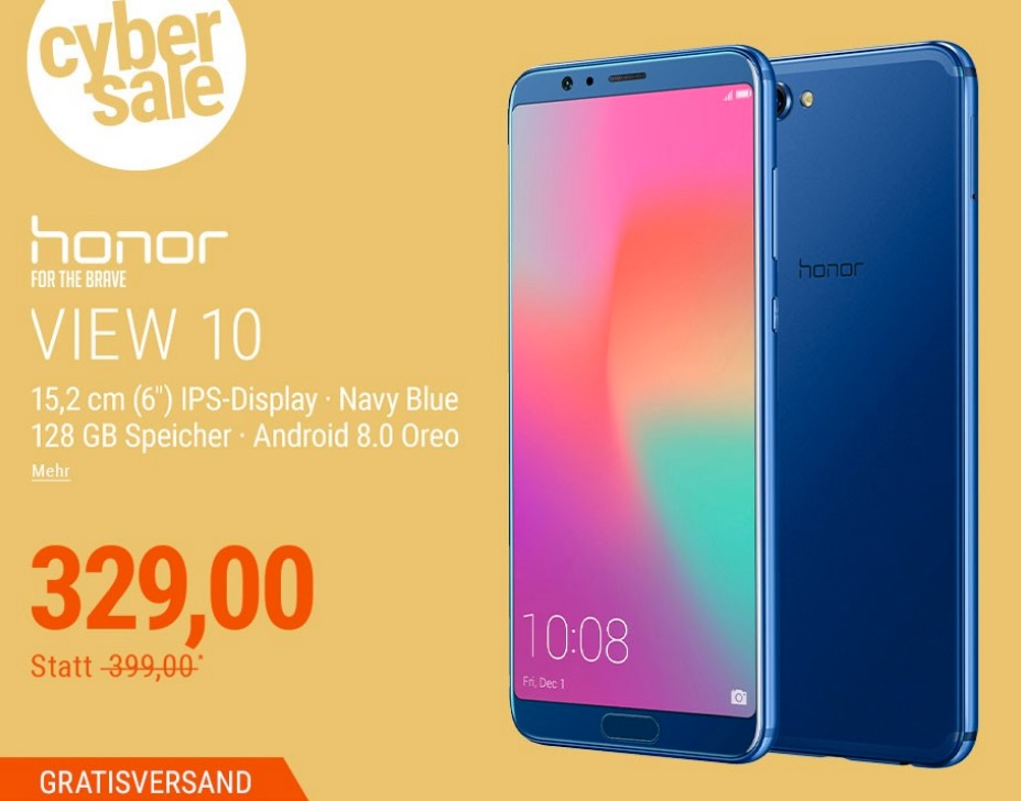 Honor View 10 Dual-SIM Android 8.0 Smartphone in Navy/Blue