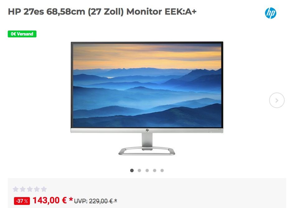 HP 27es 68,58cm (27 Zoll) Monitor