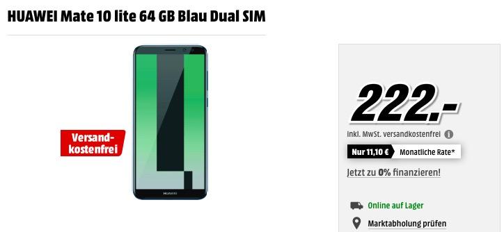 HUAWEI Mate 10 lite 64 GB Blau Dual SIM