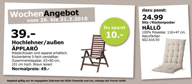 IKEA ÄPPLARÖ Hochlehner
